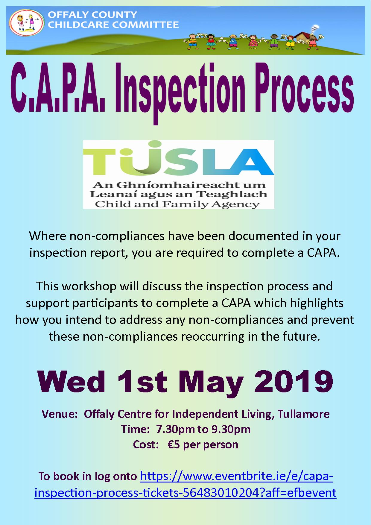 CAPA inspection process poster