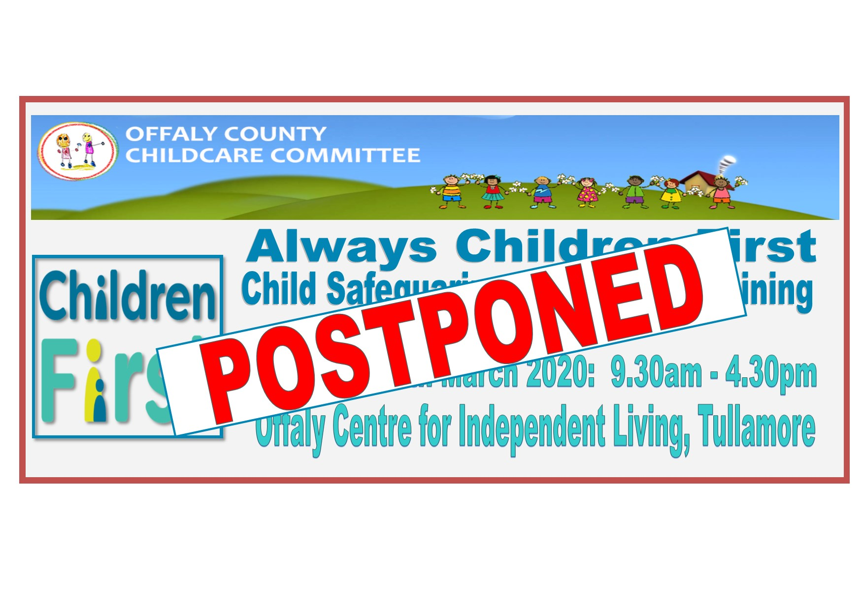 Child Protectiion Welfare Training MARCH 28TH POSTPONED
