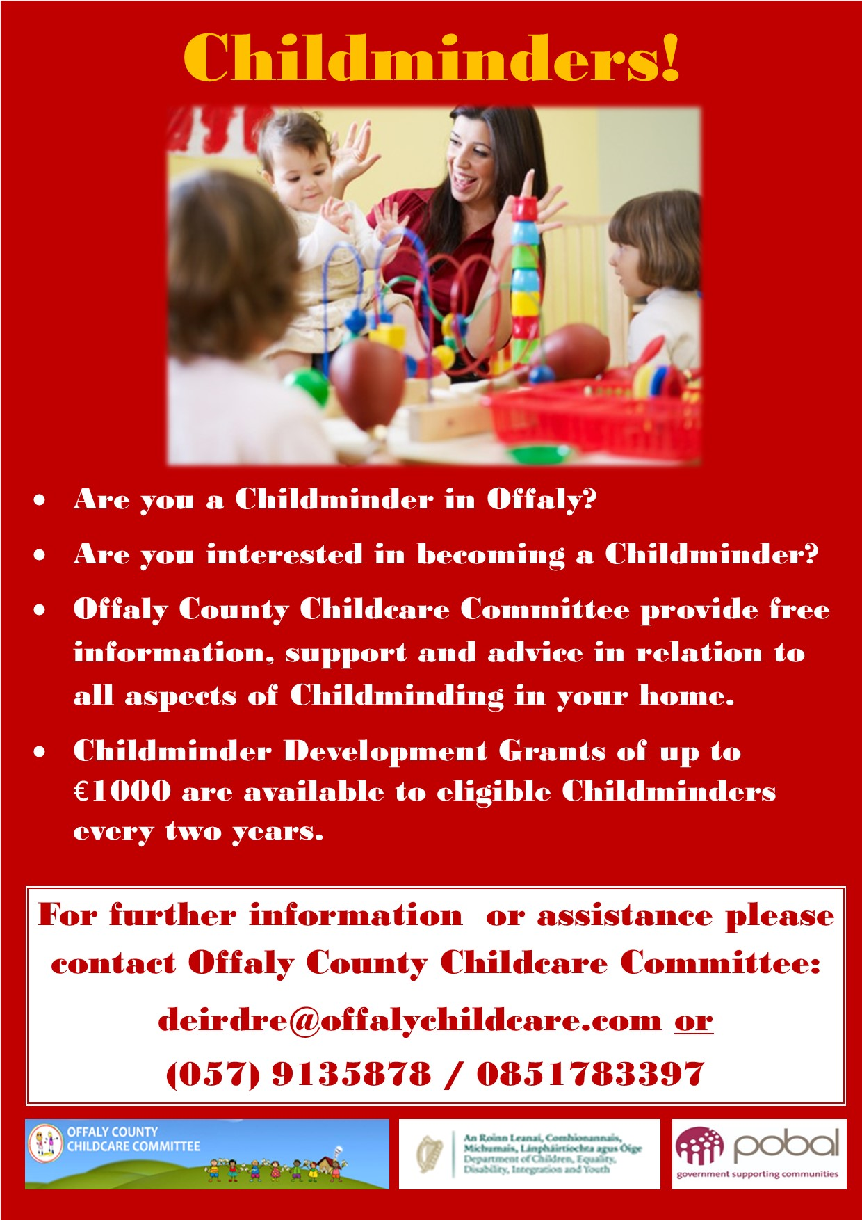 Childminder Recruitment Poster