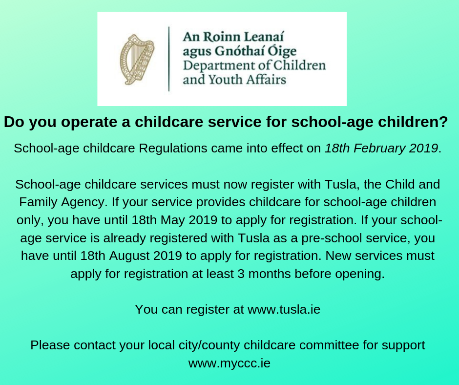 Commencement of School Age Childcare Regulations