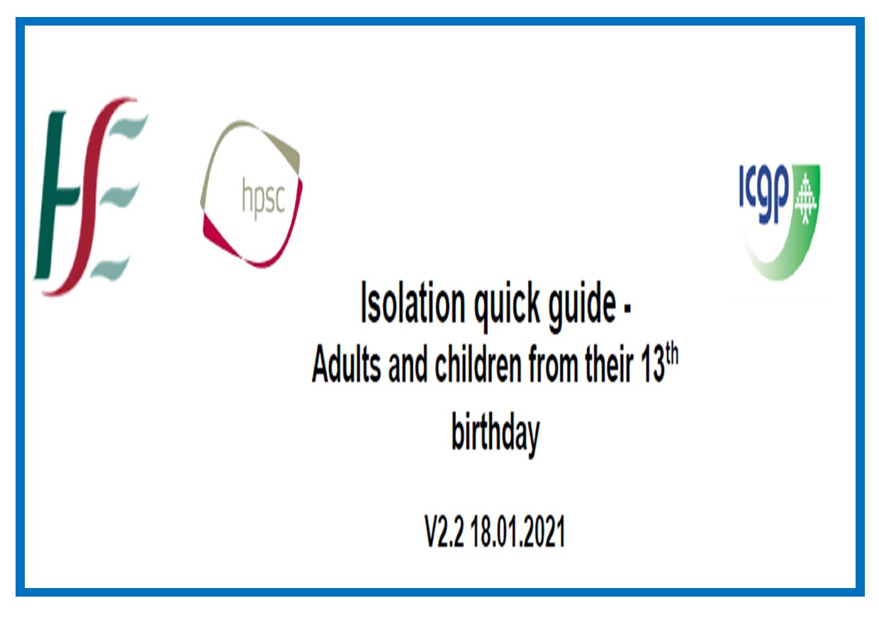 Isolation guide adults and over 13 years