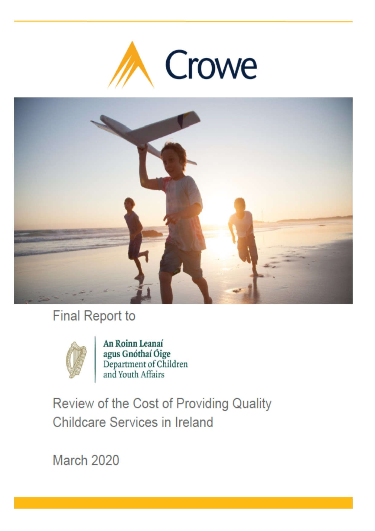 Review of costs of childcare